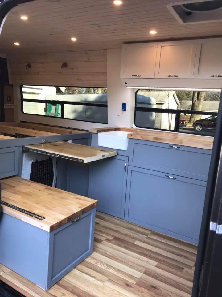Campingbus Tisch.Tisch Bank Herausziehbar Van Umgebaute Wohnmobile