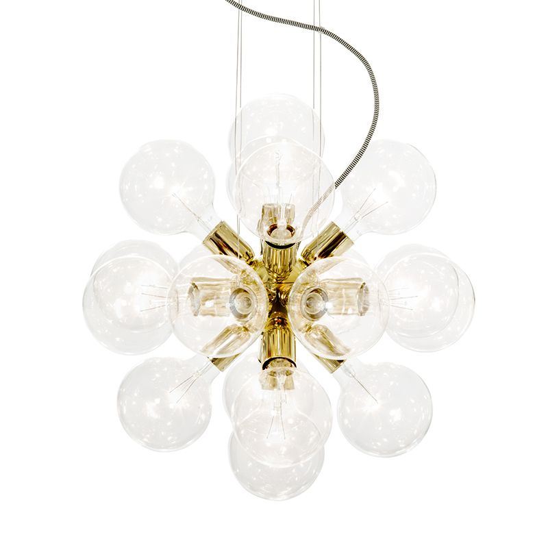 Lux Pendant 494 Nickel Plated Ceiling Lamp Retro Lamp Brass