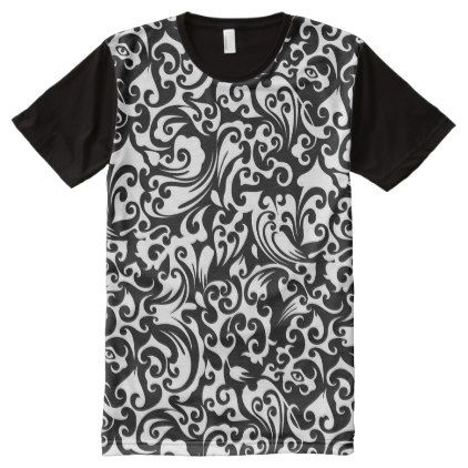 #black - #Cute black white abstract background design All-Over-Print shirt