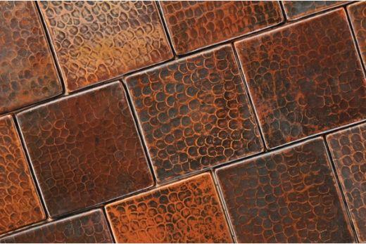 Recycled Copper Tile Backsplash Copper Tile Backsplash Copper