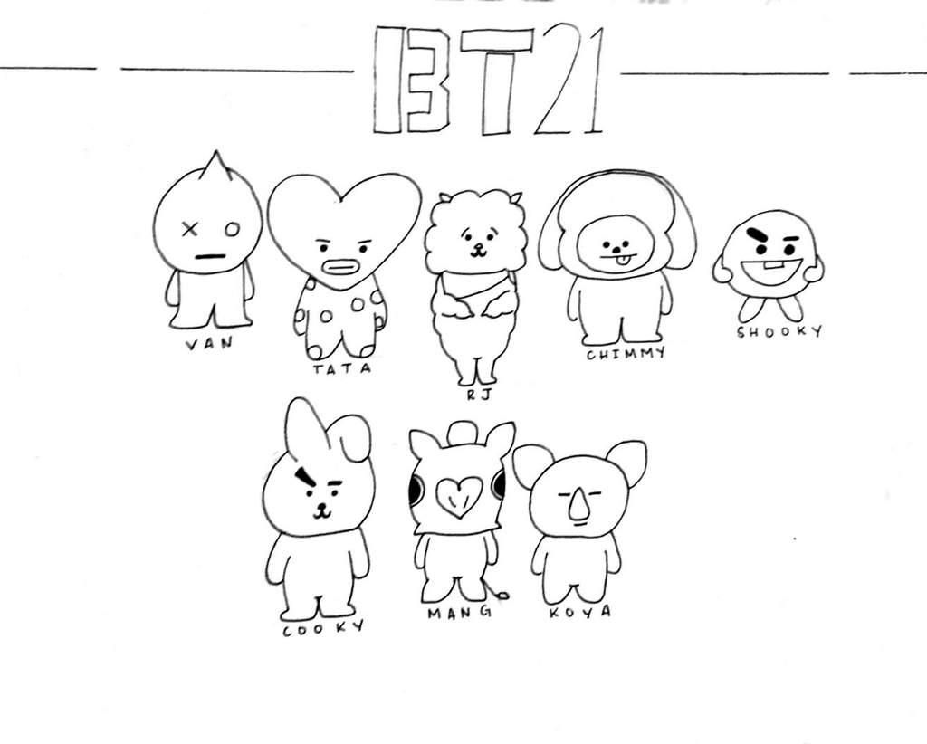 16 Coloring Page Bt21 Coloring Pages Free Coloring Pages Printable Coloring