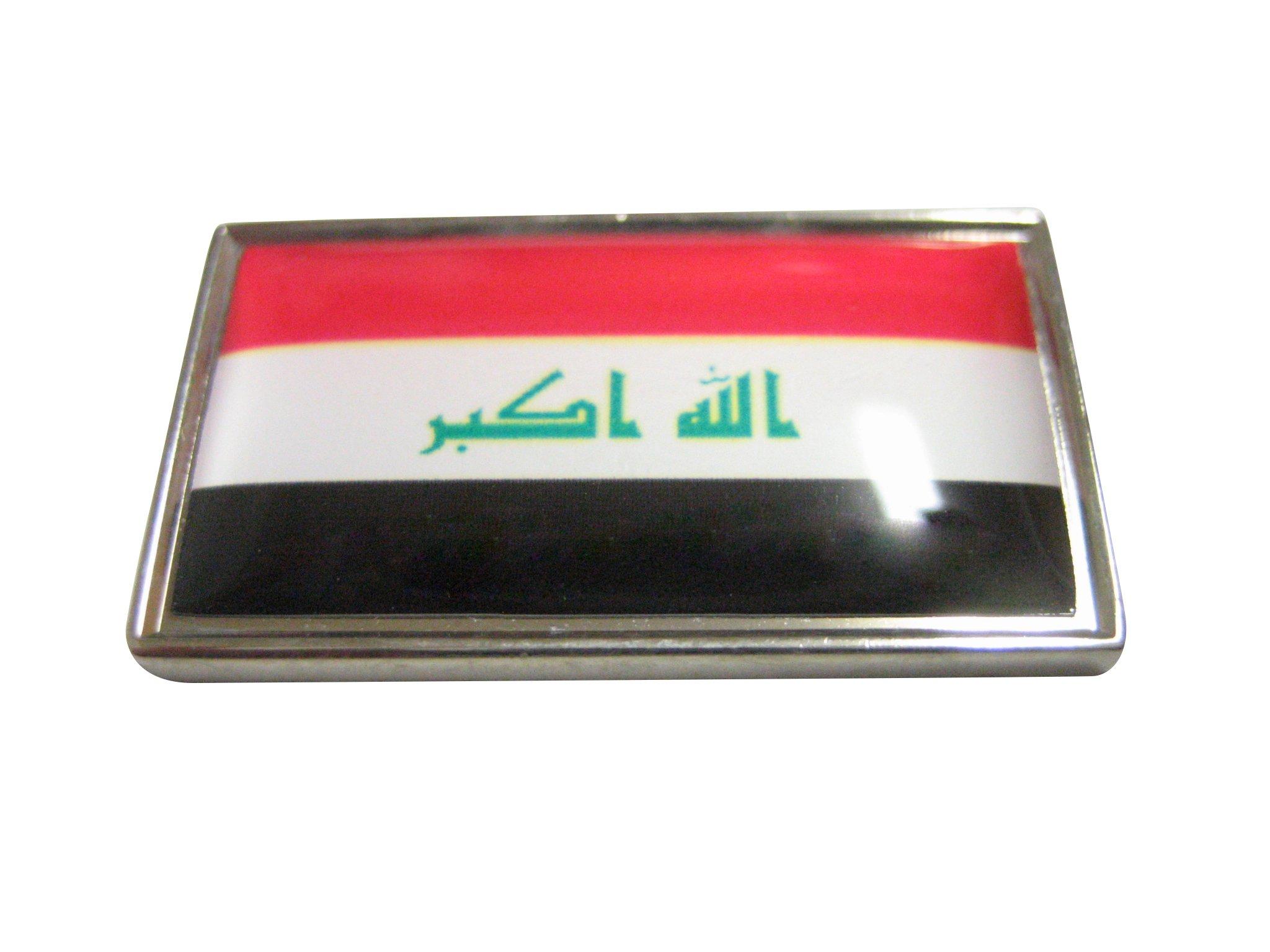 Thin Bordered Iraq Flag Pendant Magnet Iraq Flag Rare Earth Magnets Magnets