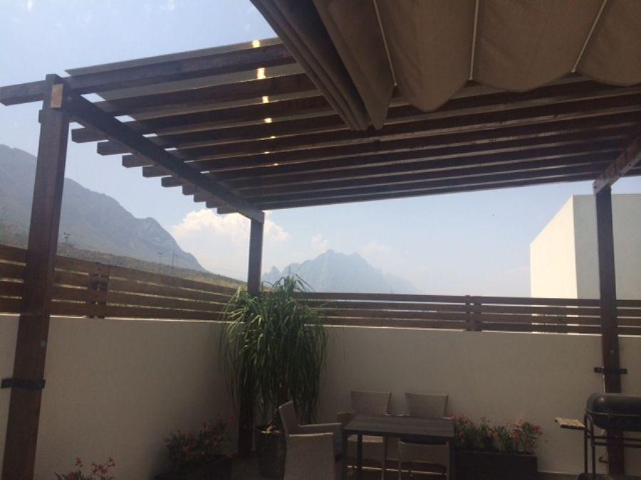 Techo vigas de madera para terraza ideas dise o de interiores techo terraza pinterest - Techos de madera para terrazas ...
