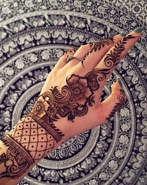 die besten 25 menhdi design ideen auf pinterest henna. Black Bedroom Furniture Sets. Home Design Ideas