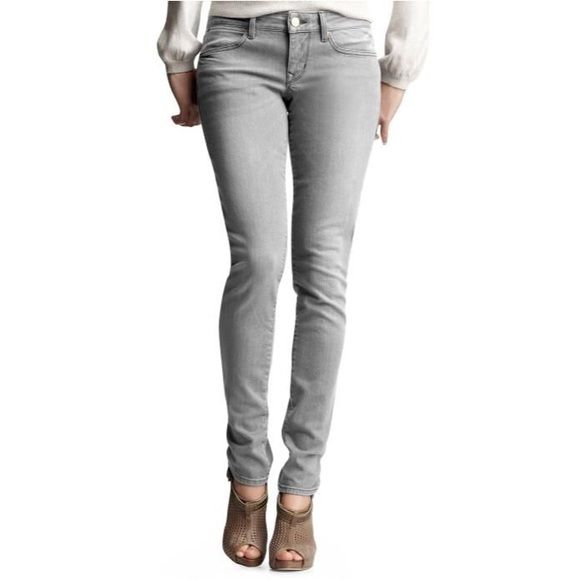 c41cc5159e GAP Always Skinny Gray Jeans 28t GAP 1969 Always Skinny Distressed Gray  Denim • SZ 28 tall • 97% cotton 2% polyester 1% spandex • Waist measures  31