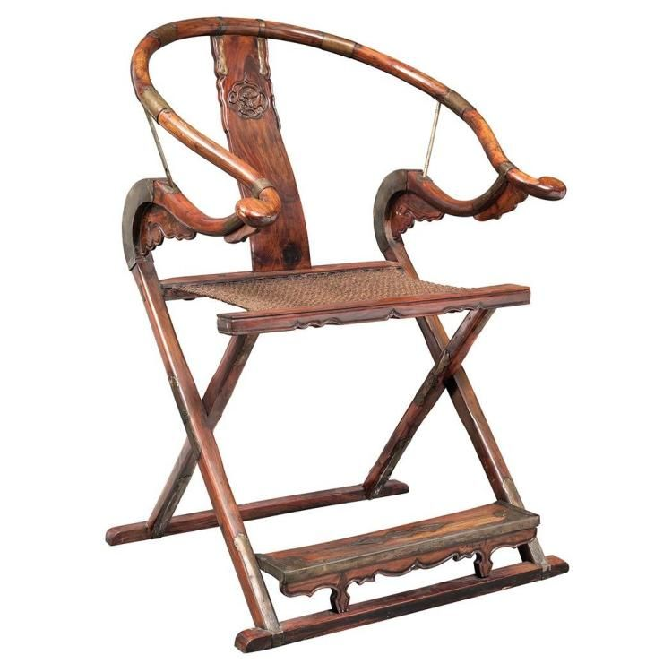 pair of chinese hongmu folding horseshoe back armchairs chinese rh pinterest co uk