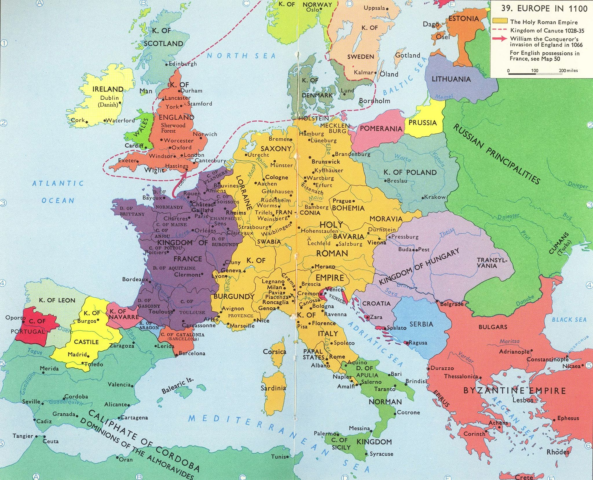 europe in 1100 ad during the first crusade i think its the most complete map ive seen from the period except the italian counties dukedoms and