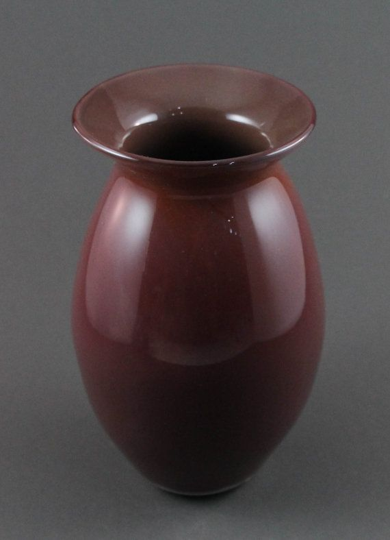 This Maroon Vase Measures About 65 Tall And About 4 Wide At The Hip