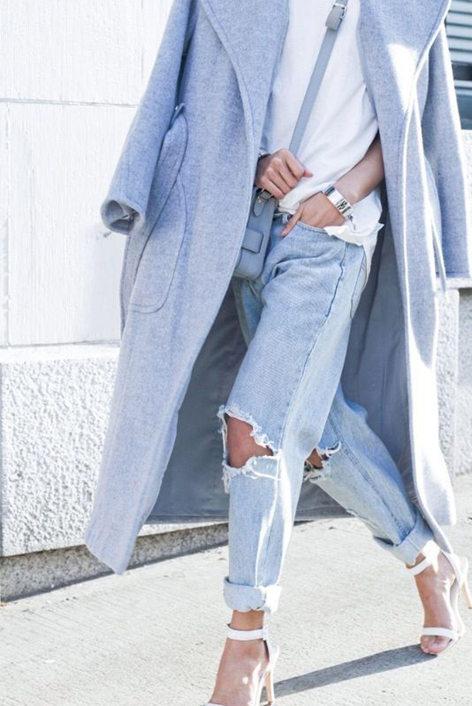 jeans strappati, distressed denim