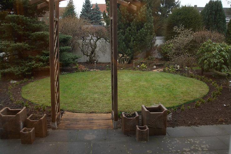 Kleiner Garten mit Sichtschutz