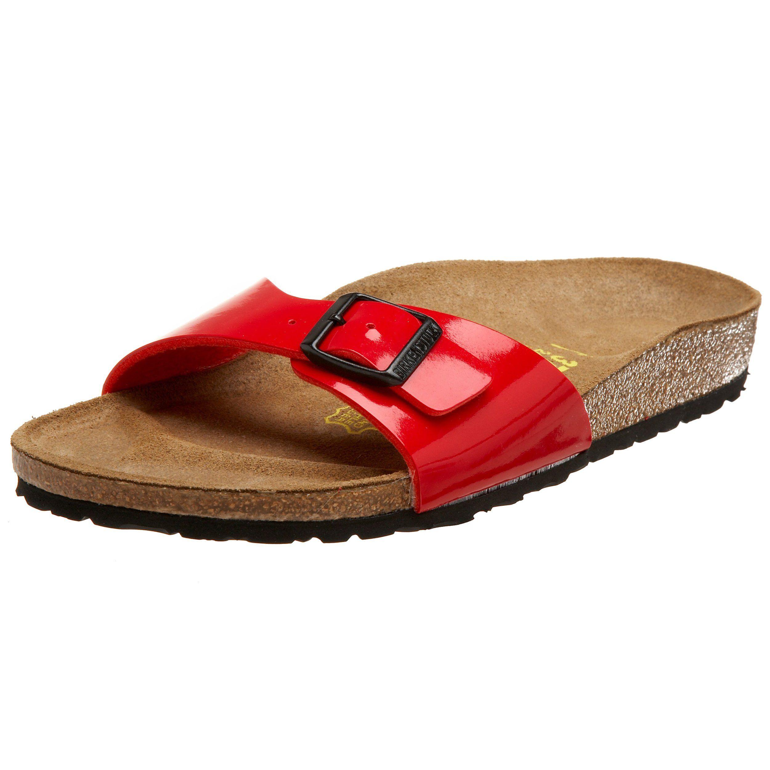 sandals: Birkenstock Women's Madrid Sandal,Birko-Flor Tango Red N EU