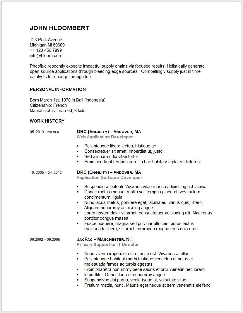 Free Resume Templates For Google Docs 30 Free Resume And Cv Templates In Microsoft Word Docx And Google