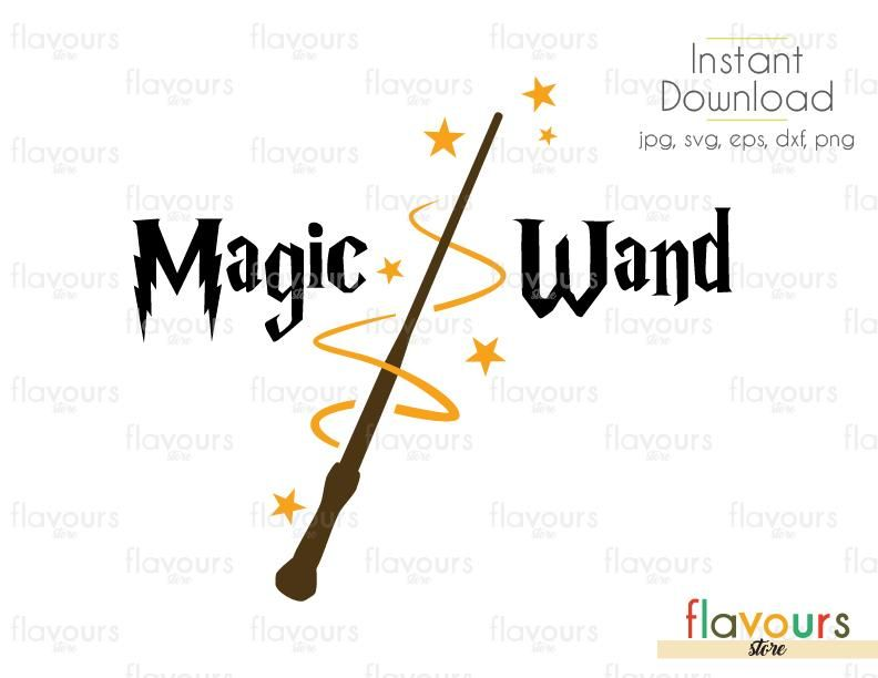 Magic Wand Cuttable Design Files Svg Eps Dxf Png Jpg For Silhouette And Cricut Svg Wands Magic Wand