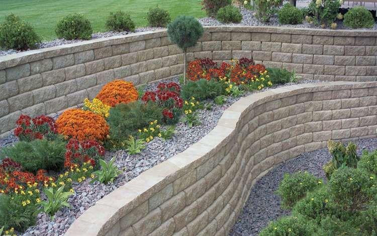 8 Segmental Retaining Wall Block Walls Retaining Wall Landscaping A Slope Hardscape