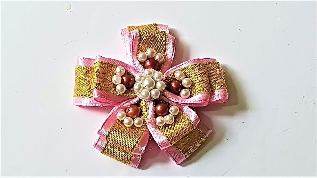 Crafty making ribbon flower decorations tutorial ribbon