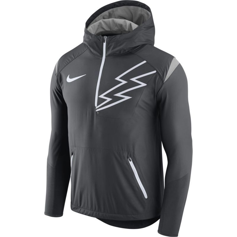 timeless design 2485b ee1d8 Nike Men's Air Force Anthracite Fly Rush Football Jacket ...