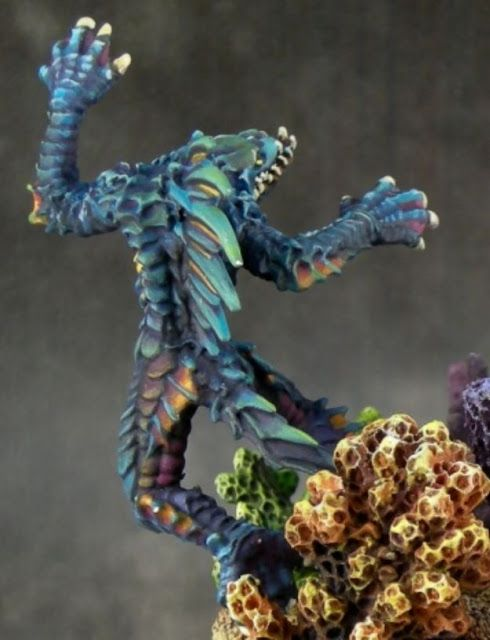 REAPER MINIATURES BONES 77189 Creature of Blood Reef
