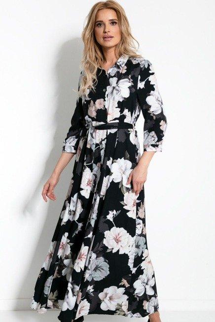 Dluga Ekskluzywna Koszulowa Sukienka W Duze Kwiaty Sukienki Shop Maxi Dress Button Maxi Dress Dresses