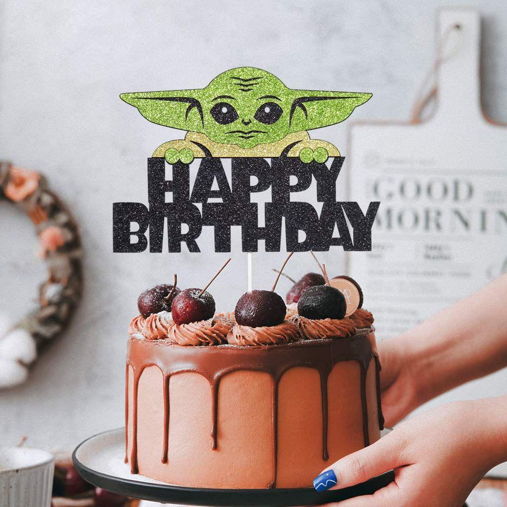 Baby Yoda Mandalorian Custom Cake Topper Cupcake Digital Toppers DIY