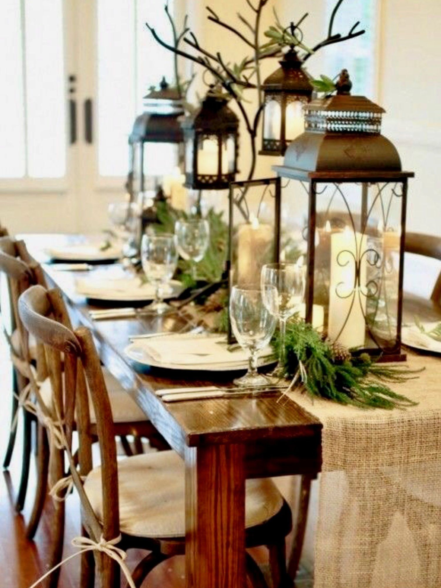 top 250 christmas table decorating ideas on pinterest styleestate christmas home christmas dishes - Rustic Christmas Table Decorations