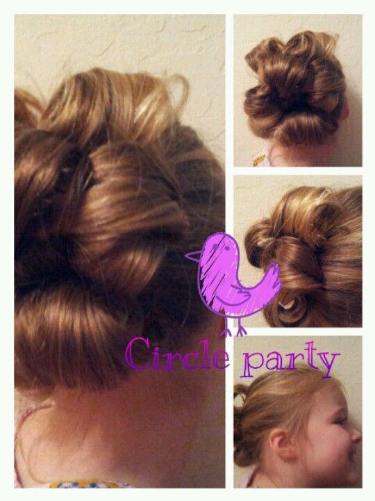 Cute Curly Up-do for Little Girls!! | Dr. Hair | Pinterest | Girl ...