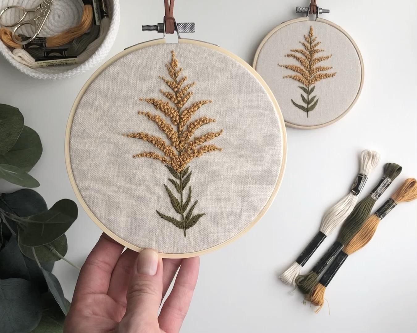 Cerceau de broderie verge d'or   – Embroidery Hoop Art