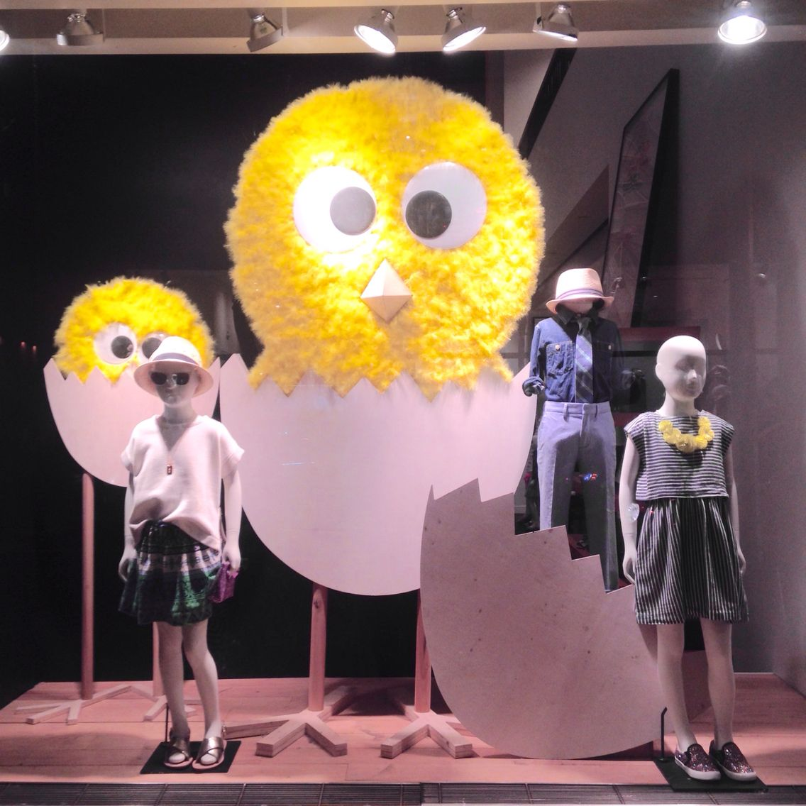 "J.CREW,Rockefeller Center, New York City, ""You can keep young chicks almost anywhere :their small size makes them easy to handle (They grow quickly though)"",pinned by Ton van der Veer"