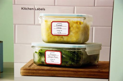 Identify The Contents Of Your Food Containers With Pre Printed
