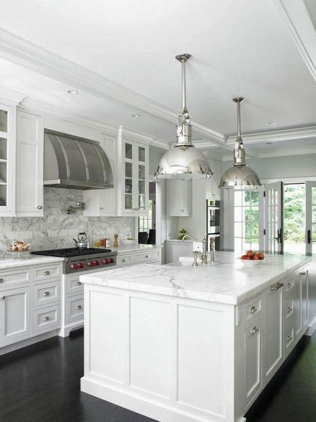 46 Luxury White Kitchen Design Ideas To Get Elegant Look Kitchen