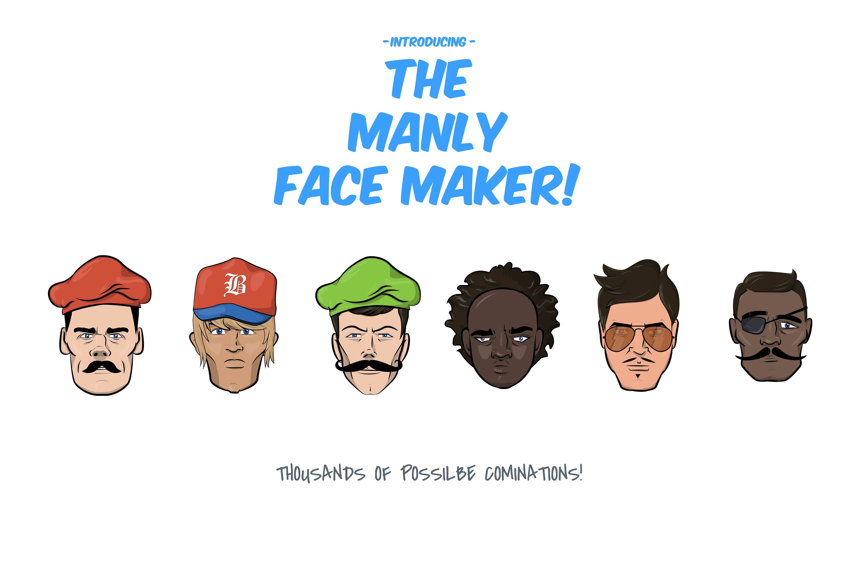 The Manly Face Maker AIsuppliedCCformat