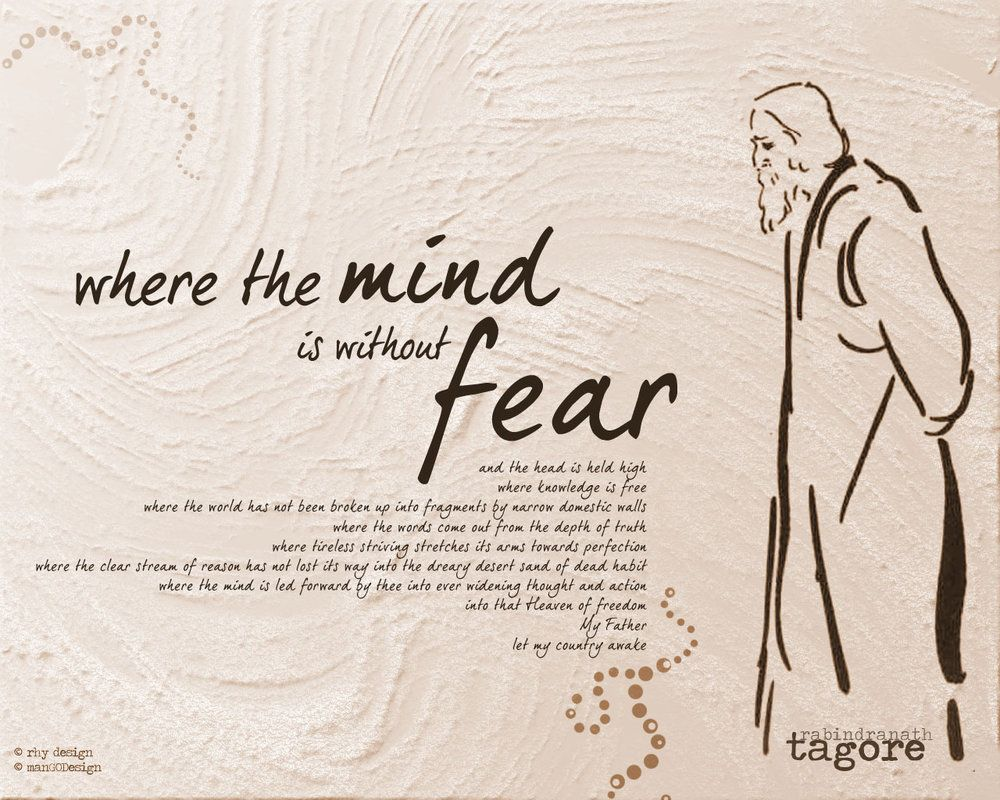 Image result for tagore where the mind is without fear