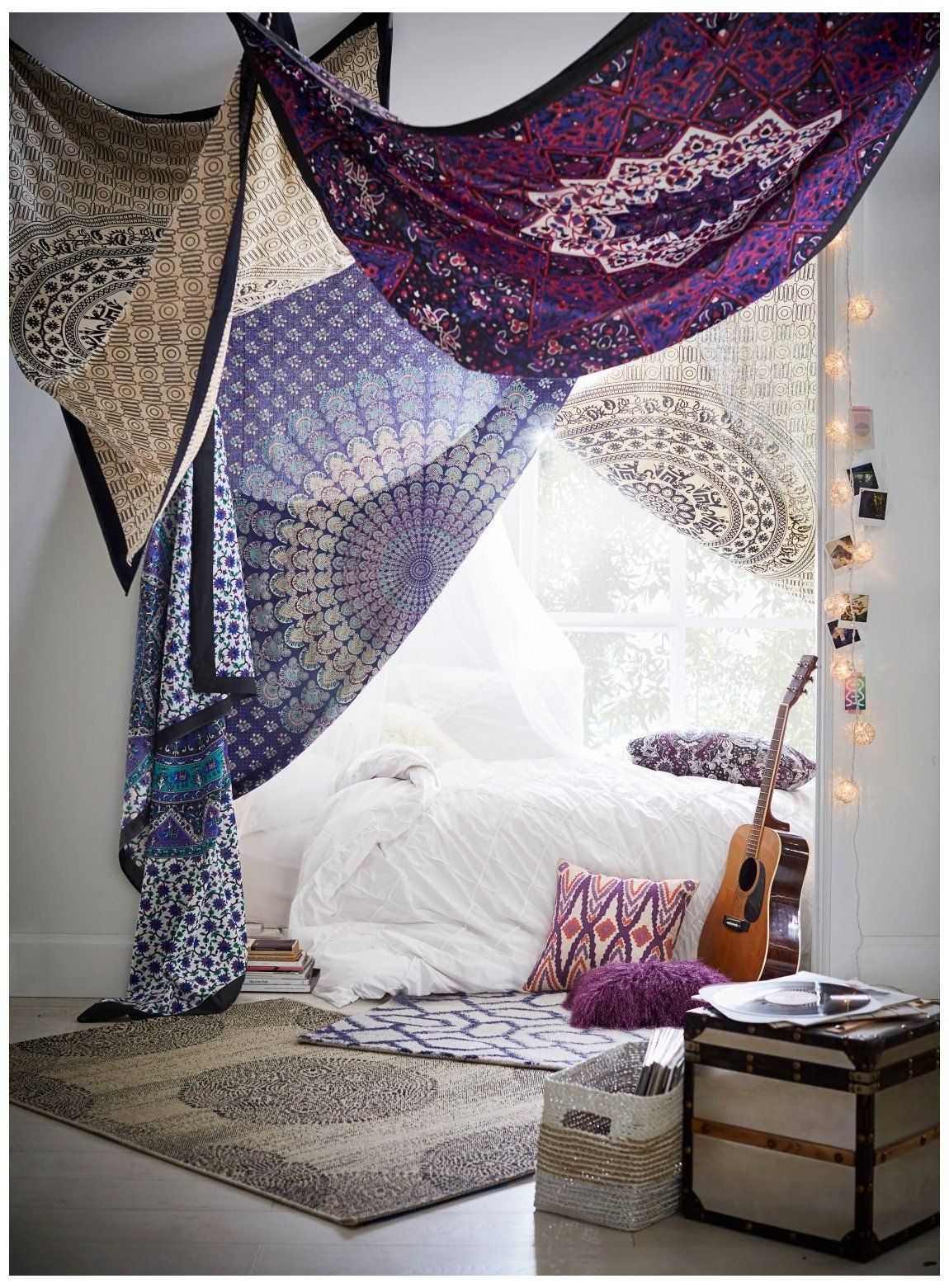 Wall Tapestries For Any Decor Style Society6 Ways To Hang Tapestry On Ceiling Printed Tapestries Drape Your Dorm An In 2020 Bedroom Diy Decor Meditation Room