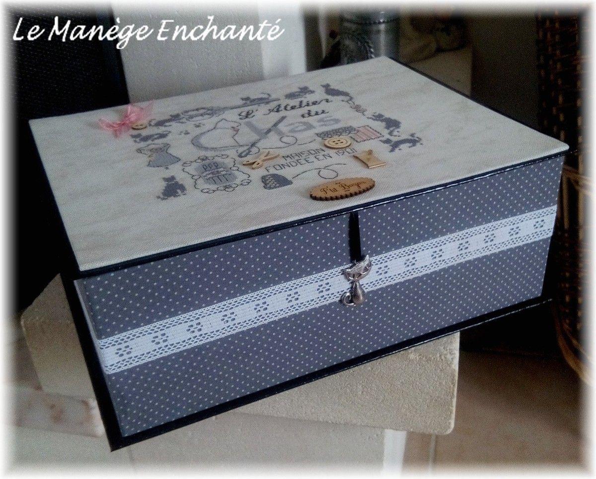 Boite couture bo tes carton pinterest boite for Boite 0 couture