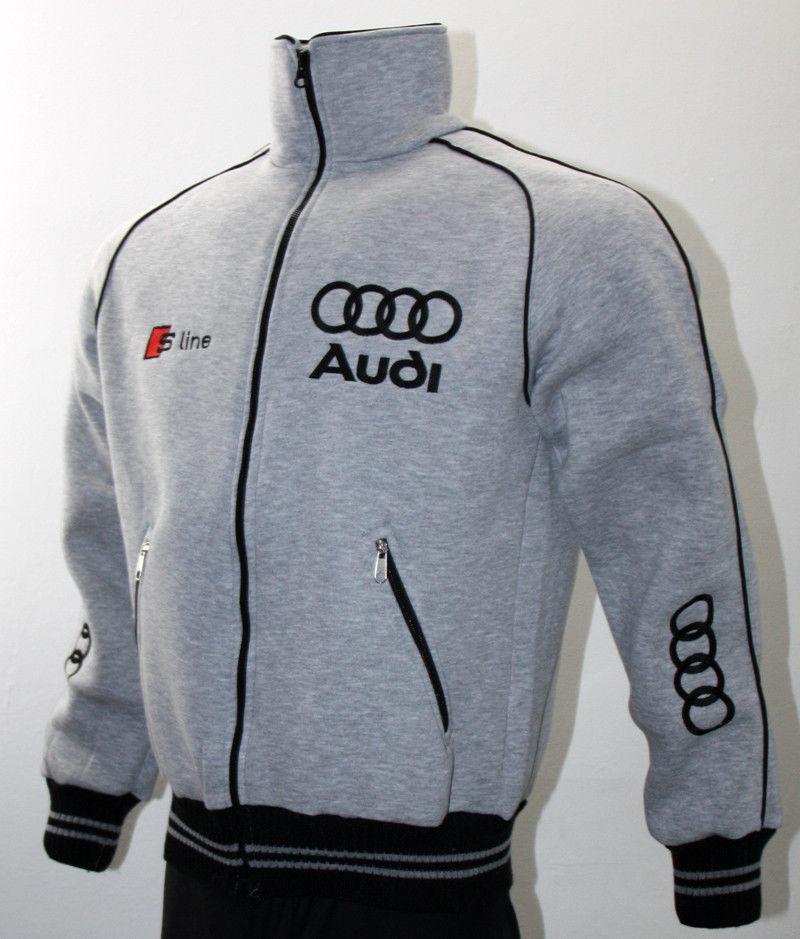 Audi S line quattro Jacket Coat Hoodie polar fleece Veste