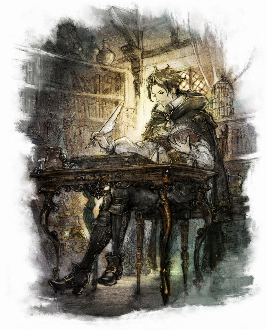 Cyrus Hd Octopath Traveler Traveler Wallpaper Pictures To Draw