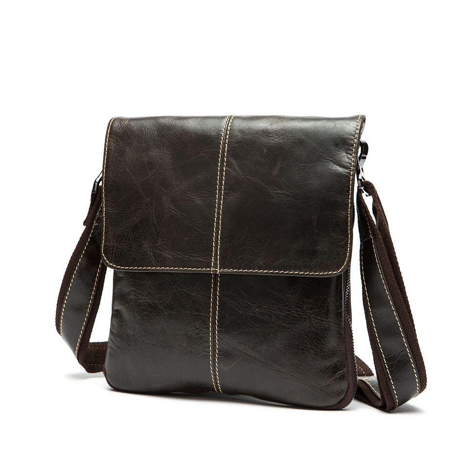 Chispaulo Genuine Leather Vintage Men Bags Mens Bag Shoulder Handbags Leisure Style Factory Whole