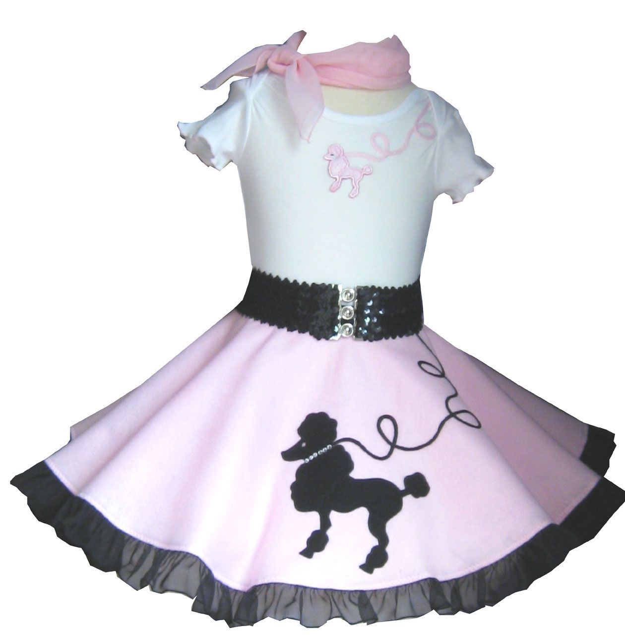 Baby Poodle Skirt Outfit
