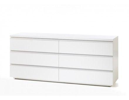 Beskrivelse Af Milano Kommode 70264 Hvid Kommode I Enkelt Design Med