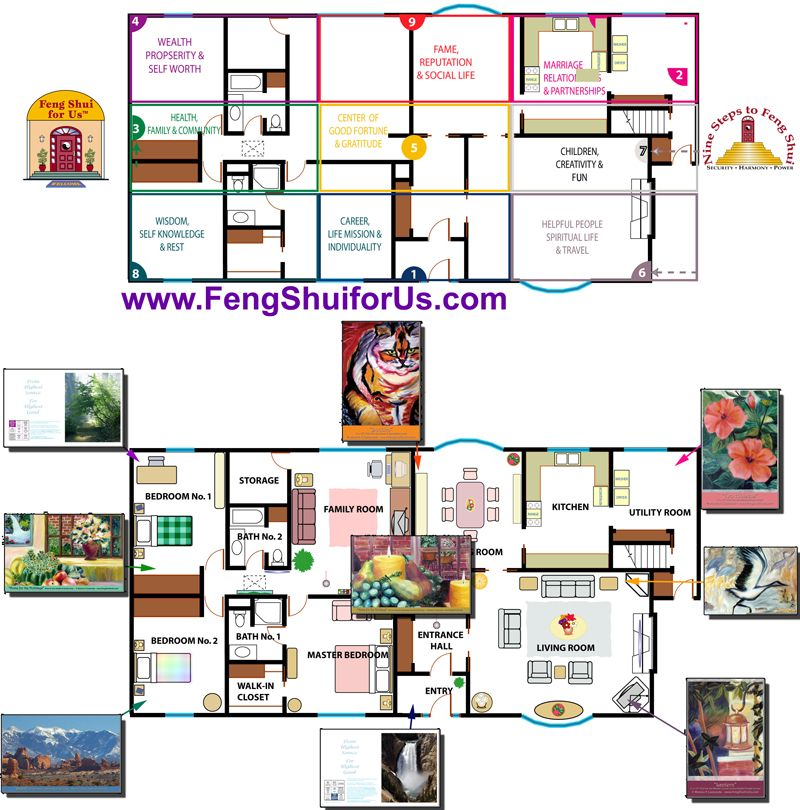 Feng Shui Bedroom Floor Plan image issue du site web http://www.fengshuiforus/images