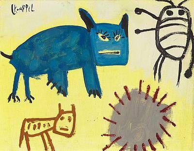Kindertekening - Karel Appel   Studio 2000