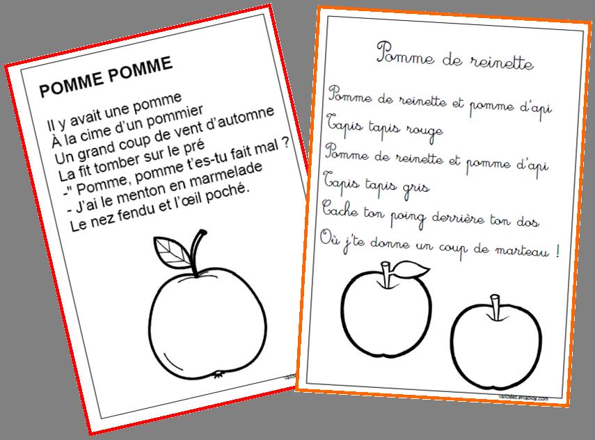 Comptines pommes maternelle pinterest comptines - Fruits automne maternelle ...