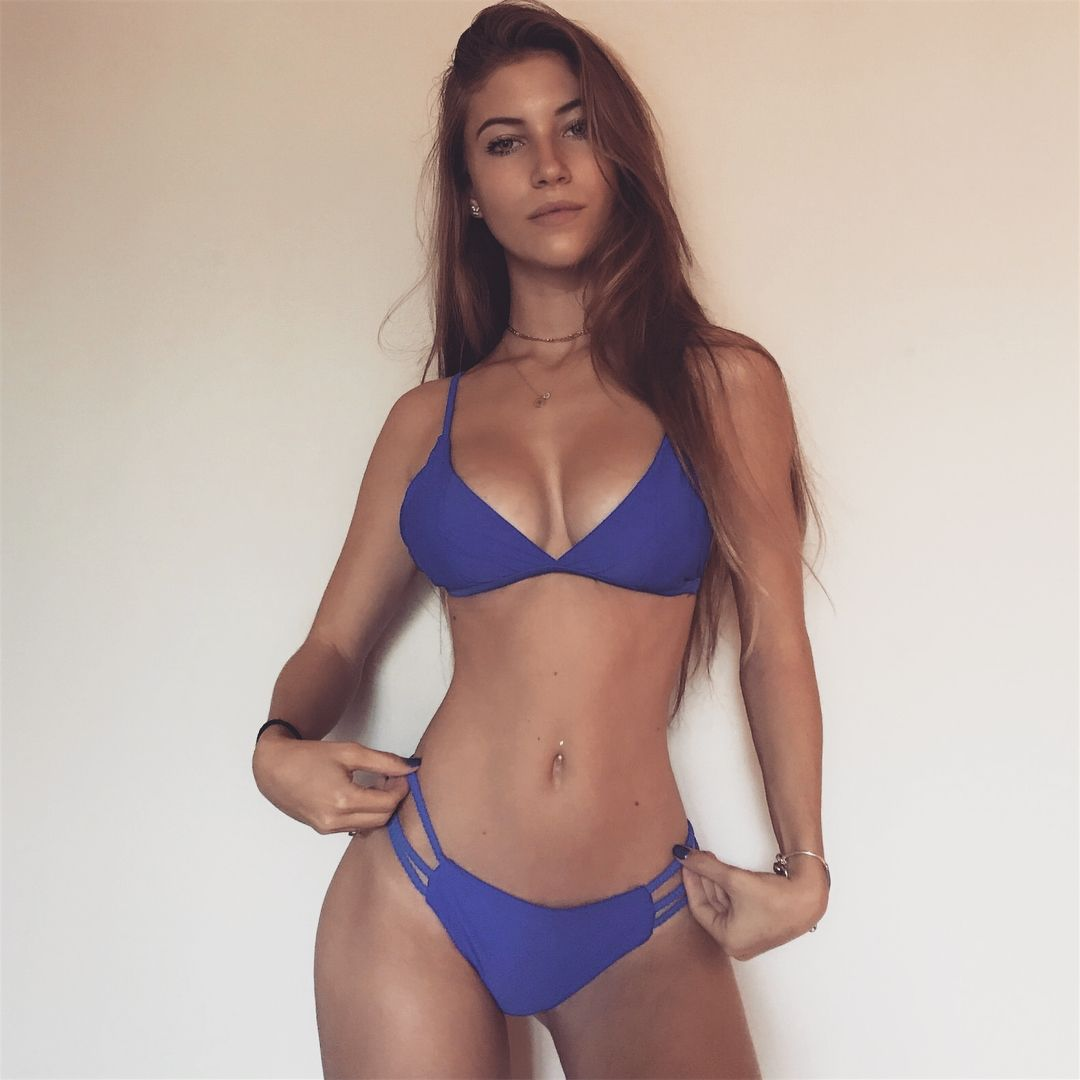 Fit rolled bikini but over stomach