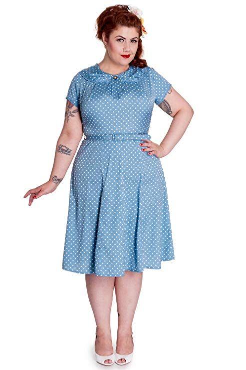 b899780e59885 Hell Bunny Plus 50's Retro Mod Sassy Polka Dot Sunday Dress at ...