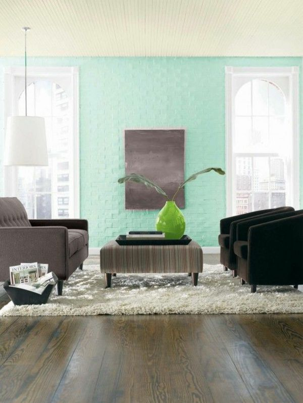 cool Wandfarben fürs Wohnzimmer u2013 100 trendy Wohnideen für Ihre - wohnzimmer wandfarben ideen