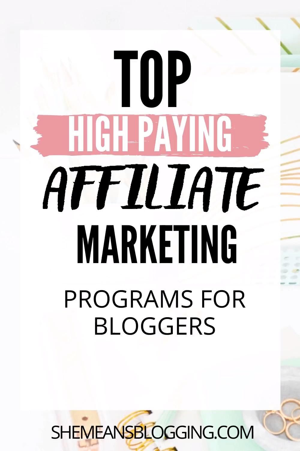Top high paying affiliate marketing programs for b...