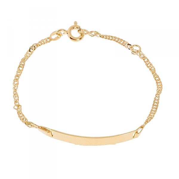 Bracelet Or 375/1000 - Bracelet Enfant avec CLEOR -Z0000389