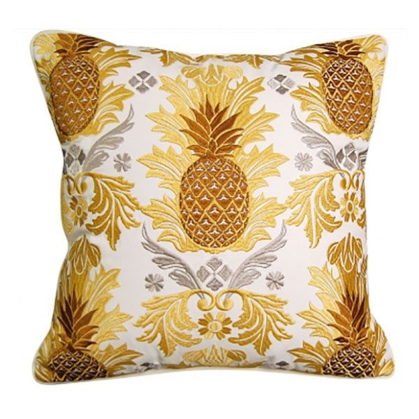 Pineapple Pattern Pillow - Outdoor Sunbrella®