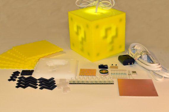 Interactive 8bit Question Block Lamp Kit By 8bitlit On Etsy 8