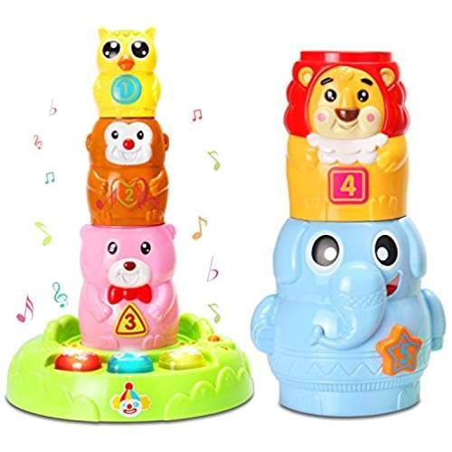 Baby Toys Stacking & Nesting Cups with Music and Light ...