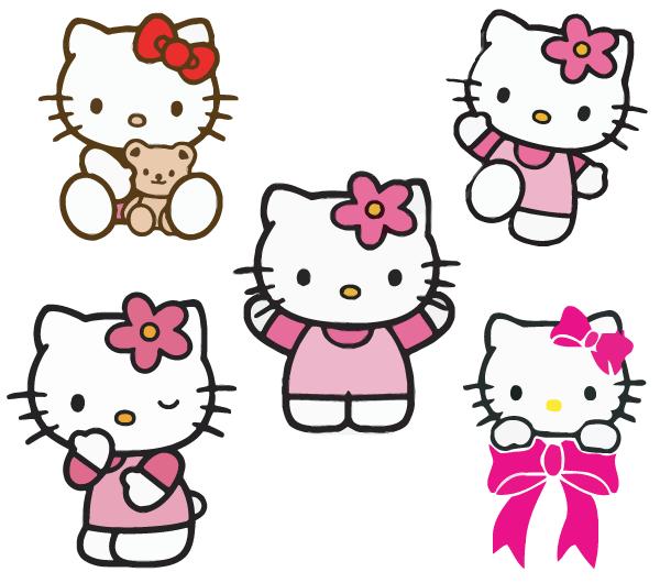 free hello kitty vectors | free vectors | pinterest | hello kitty, Invitation templates